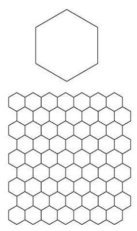 Patchwork Hexagon Templates Free - 1000 ideas about hexagon pattern on hexagons