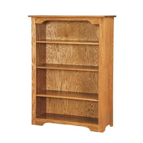 shaker 4 bookcase solid hardwood bookcase amish made