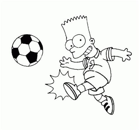 dibujos niños jugando futbol para colorear dibujo de bart jugando al f 250 tbol para colorear dibujos