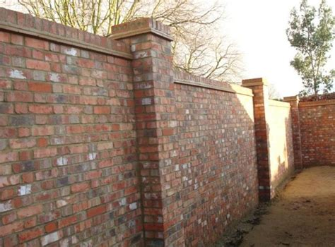 Brick Walls For Gardens Walled Garden Brick Wall With Two Brick Piers And On