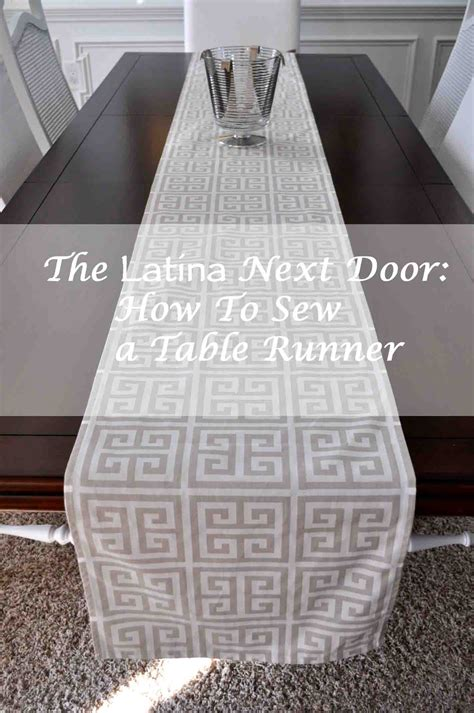 How To Sew A Table Runner by How To Sew A Table Runner The Next Door