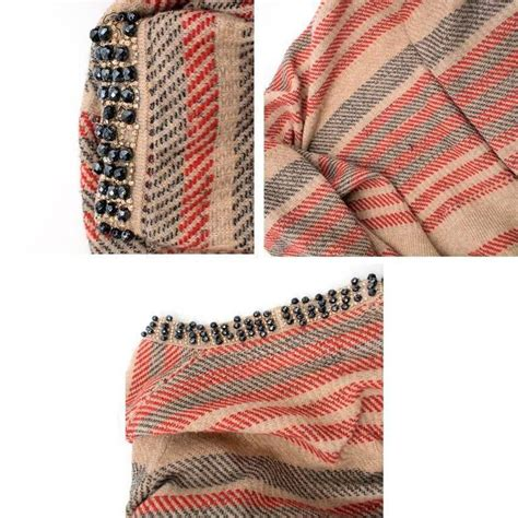 Chanel Stripe chanel multicolour stripe cardigan for sale at 1stdibs