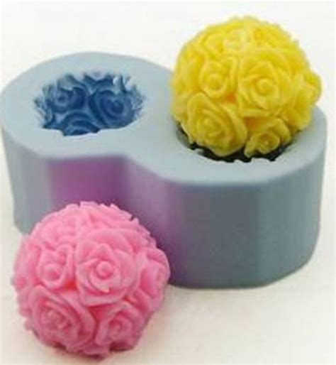 sti in silicone per candele 2 flower candle mold soap moulds silicone