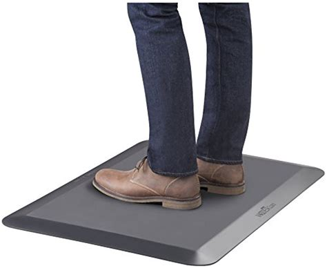 standing desk mat amazon varidesk large standing desk anti fatigue floor mat
