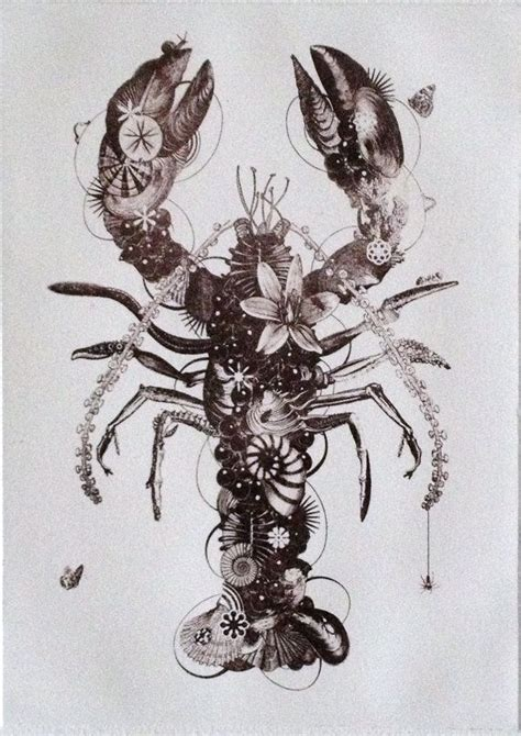 lobster tattoo designs lobster original contemporary black and white by
