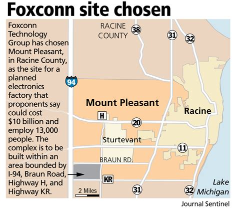 Racine County Property Records Foxconn Confirms Factory Site In Racine County