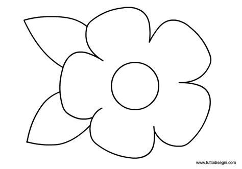 sagoma fiore fiori da colorare e ritagliare imagui