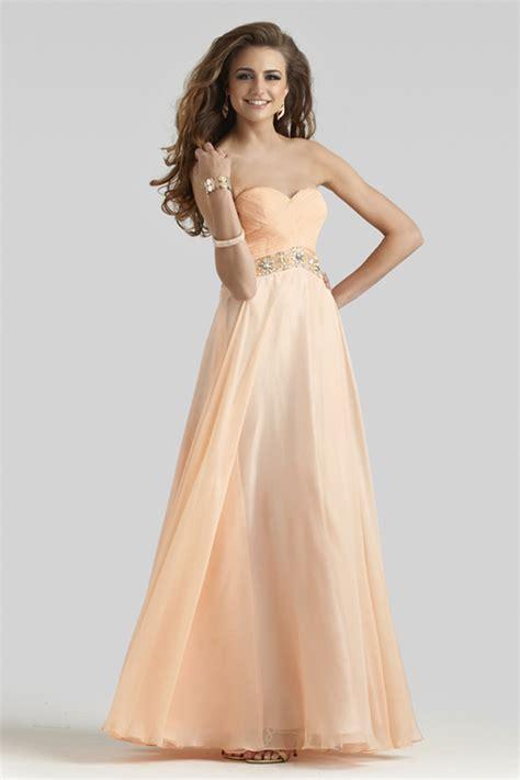 light peach dress clarisse 2014 light peach strapless sweetheart open back