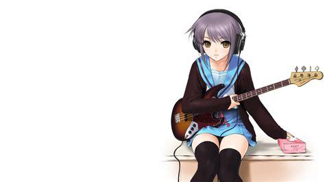 anime girl playing guitar wallpaper anime girl with guitar 934781 walldevil