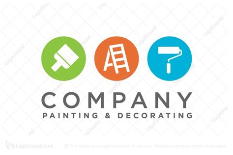 painting and decorating painter decorator logo
