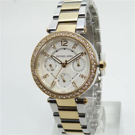 Michael Kors Uhr Silber Damen by Michael Kors Uhr Uhren Damenuhr Mk6055 Mini Bicolor Armbanduhr Neu Mk Ebay
