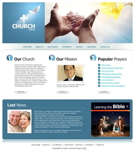 Free Religious Website Template Org Website Templates