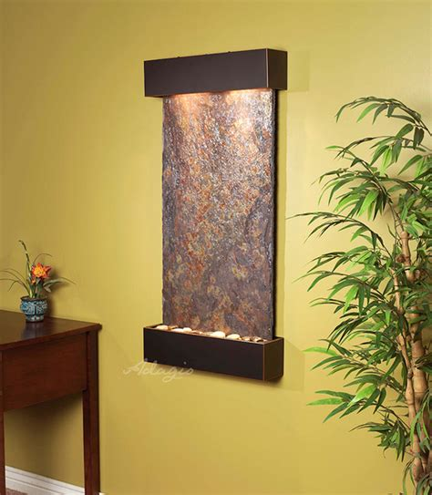 slate wall mounted water features the the whispering