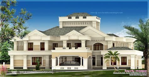 luxury home plans with photos luxury kerala house exterior house design plans