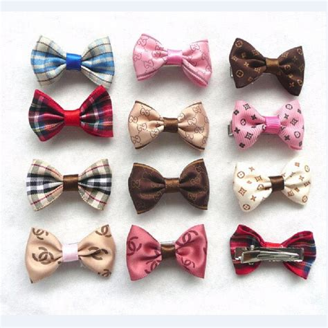 puppy hair bows fashion pet hair clip hair bows hair ties puppy hairpin grooming accessories