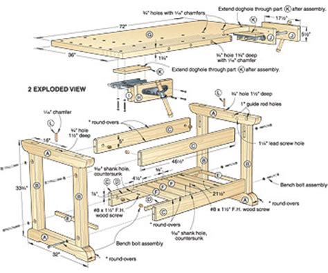 wooden workbench plans pdf quick woodworking projects