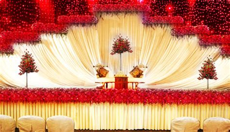 Indian Wedding Home Decoration Venu S Wedding Planners Stage Decorations Kerala India