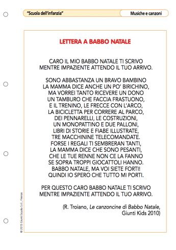 lettere d testo lettera a babbo natale la vita scolastica