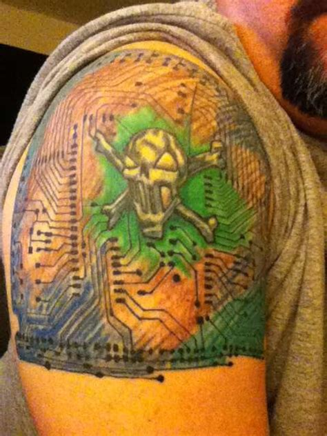 chip on your shoulder tattoo circuit board tattoo tattoo collections
