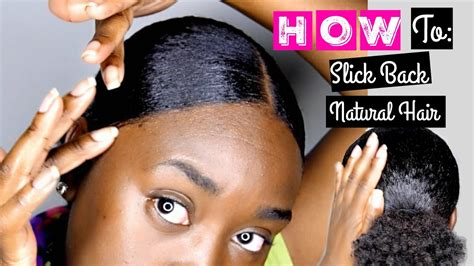 different ways to slick back natural hair using styling gel with pictures how to slick back natural hair youtube