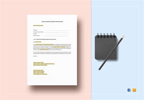 refusal employee request early raise template