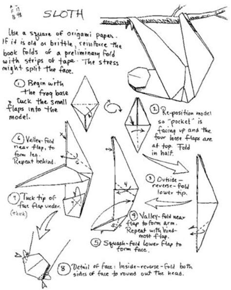 Origami Sloth - origami sloth papercraft juxtapost