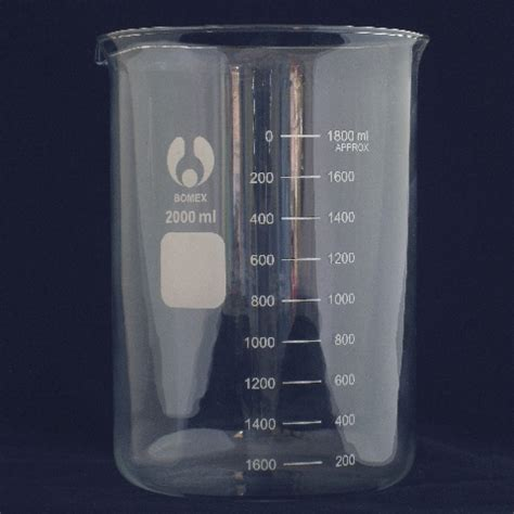 Duran Beaker 2000 Ml Form With Graduation And Spout 2000ml borosilicate glass beaker form laboratory glassware ctechglass