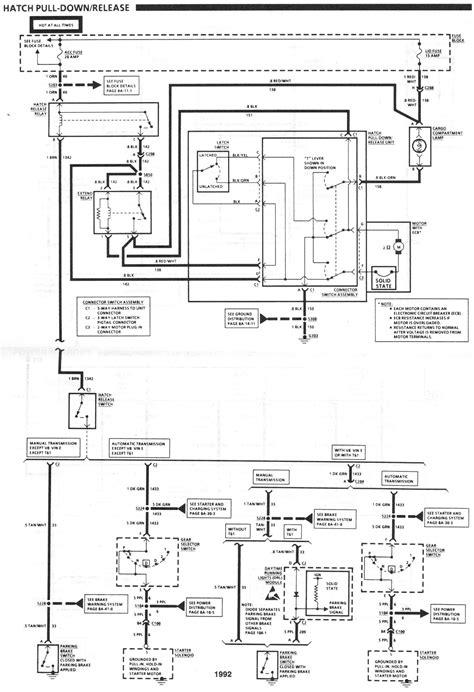1992 camaro rear hatch wiring - Third Generation F-Body