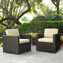 Outdoor Wicker Furniture Crosley Furniture Palm Harbor 2 Piece Outdoor Wicker