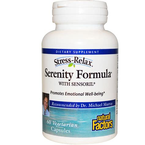 stress j supplement factors stress relax serenity formula with