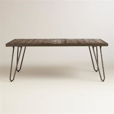 World Market Coffee Table Rectangular Wood Hairpin Coffee Table World Market