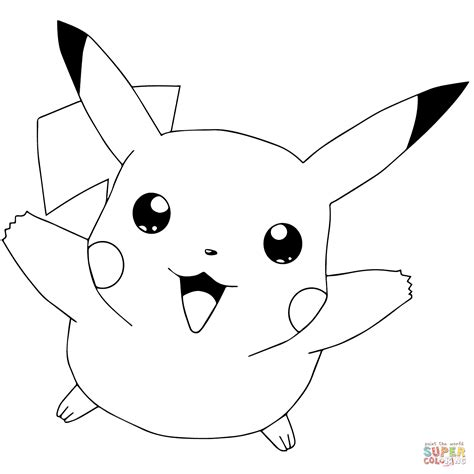 pokemon templates print pikachu coloring pages printable coloring pages