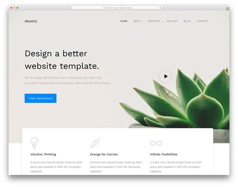 atomic   business website template  colorlib