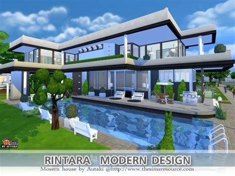 Home Design For Sims 4 by The Sims Resource Rintara Modern Design By Autaki Sims