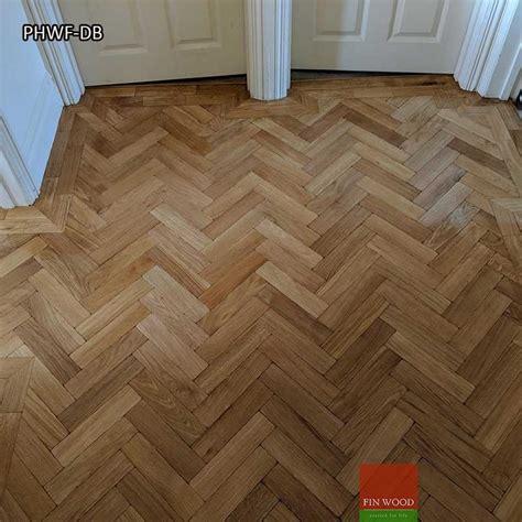 parquet herringbone wood flooring  double border london