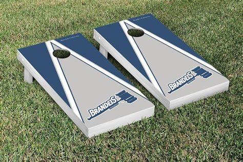 cornhole game set brandeis university judges triangle