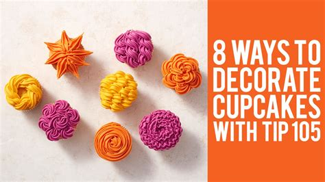 how to decorate cupcakes at home how to decorate cupcakes with tip 105 8 ways youtube