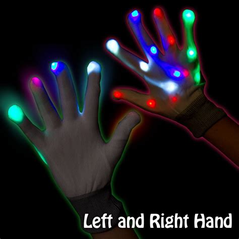 led light up gloves light up rainbow gloves light up novelties
