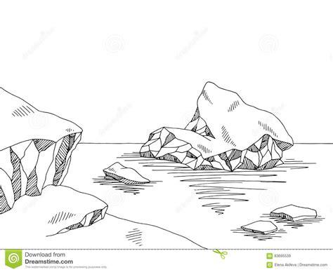 Iceberg Graphic Black White Sketch Illustration Cartoon Vector Cartoondealer Com 83695539 Vector Image Black White Sketch