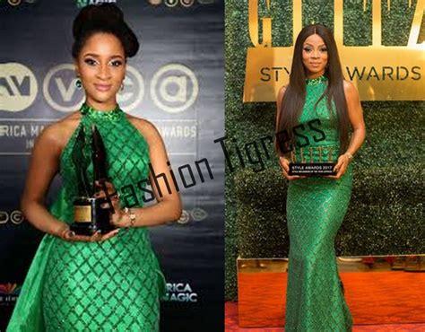 Naira Dress Green St T1310 3 Adesua Etomi Vs Toke Makinwa Who Wore The Green Dress