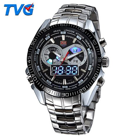 jam tangan tvg digital 1 tvg jam tangan sporty digital analog km 468 black