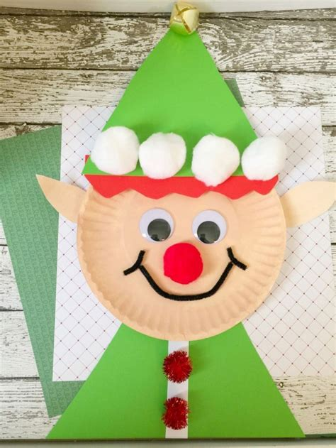 christmas elf paper plate craft for kids paper plate