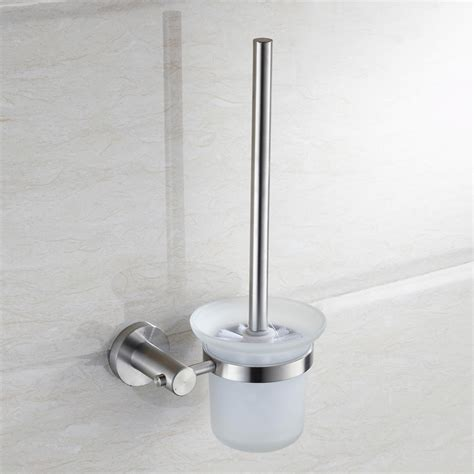 Duo Laini Toilet Toilet Brush Holder Suit Sus304 Brushed Brushed Stainless Steel Bathroom Accessories