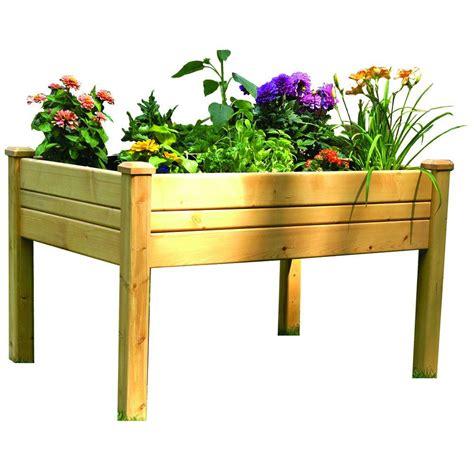 home depot garden table 2 ft x 3 ft cedar raised garden table rgt 23 the