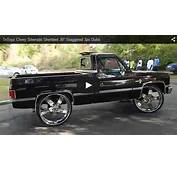 Chevy Silverado Shortbed 30 Staggered 3pc Dubs  Big Rims