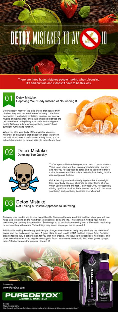 What To Avoid While Detoxing From by Detox Mistakes To Avoid Infographic