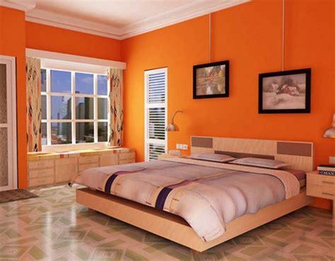 schlafzimmer orange miegamasis oranžinės spalvos namų dizainas