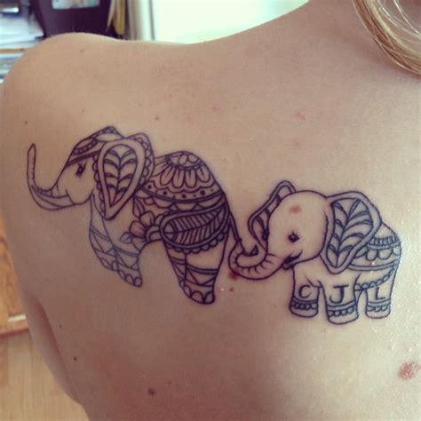 mother daughter elephant tattoo tattoo inspirations 74 beautiful elephant tattoos design mens craze