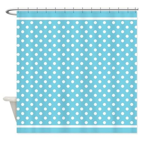 turquoise polka dot curtains turquoise white polka dot pattern shower curtain by