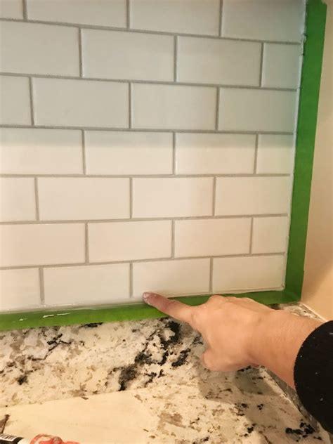 caulking kitchen backsplash installing a subway tile backsplash for 200 house